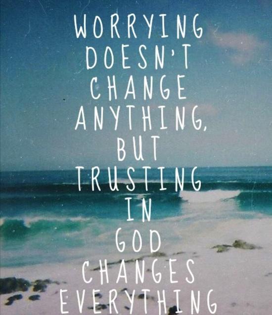 Trusting God I